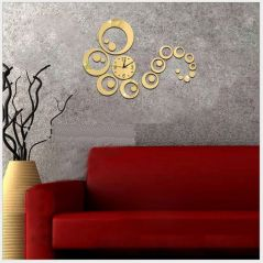 3D DIY Wall Clock Sticker For Home And Office Decor (Covering Area - 45*56cm) - 0434G