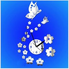 DIY Wall Clock 3D Sticker Home Office Decor 3D Wall Clock (Covering Area:44*62cm) - 0449S