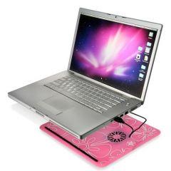 Designer Laptop 2 Cooling Fan Cooler Pad Stand , Netbook Cooler White