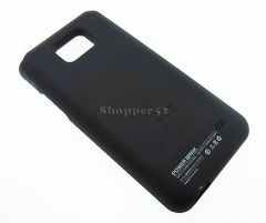 2000mAh Slim External Battery Charger Case Cover Samsung I9100 Galaxy S2 Black