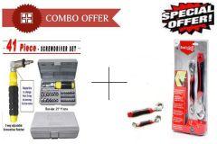 Buy 41 Pcs Tool Kit  Screwdriver Set With Snap N Grip Multipurpose Wrench -