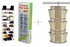 Buy 10 Layer Portable Amazing Shoe Rack With Hanging Shoe Rack - AMWHGSR