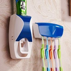Automatic Toothpaste Dispenser Squeezer With Wall Mounted Toothbrush Holder - (Code- ATHHPSD)