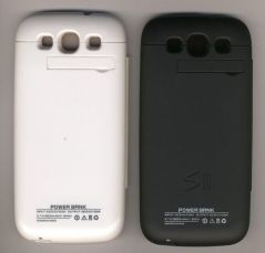 White 2000MAH External  Backup Battery For Samsung GalaxyS3 with flip cover