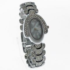 Diamond Ladies Steel Belt Wrist Watch LW1653-2