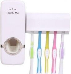 Touch Me Toothbrush Holder And Toothpaste Dispenser