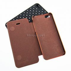 Shinning Diamond Back Case Cover With Flip Cover For iPhone 5