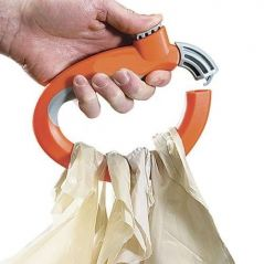 Set Of 2 Trip Grip Handle Carry Multiple Bags Without Hand Strain Locking H - Home & Kitchen