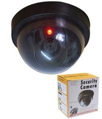 Dummy Fake Infrared Sensor Dome Wireless Security Camera With Blinking Led Realistic Looking CCTV Surveillance - SCTCMR