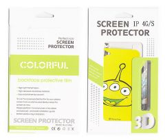 Designer Front and Back Screen Protector Skin For Apple iPhone 4 4S SCR402