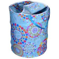 Multicolor Attractive Round Shape Foldable Small Laundry Bag -  CNJHUSL