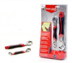 Snap N Grip Red Steel Multipurpose Wrench Set Of 2 - Snpgrp