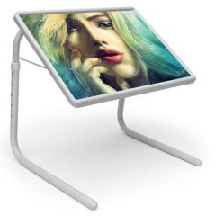 Illussion Table Designer Portable Adjustable Dinner Cum Laptop Tray Table 441