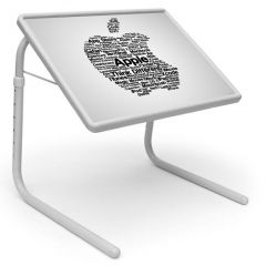 Apple Logo Table Designer Portable Adjustable Dinner Cum Laptop Tray Table 535