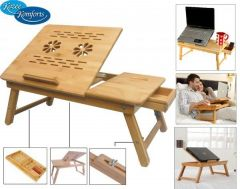 Portable Multipurpose Laptop Wooden E-table For Study & Reading
