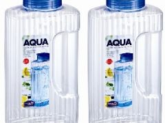 Lock&Lock Aqua Easy Grip Bottle Set, 2.1 Litres, Set Of 2