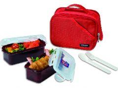 Kitchen Utilities, Appliances - Lock&Lock Lunch Box, 2 - Pieces, Red