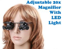 Gadget Hero's 20X Magnifier Loupe LED Light Glass