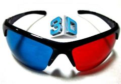 Shop or Gift Gadget Hero's 3D Plastic Ana-Glyph Glasses Red/Blue. Sporty Bottom Rimless. Online.