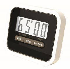 Gadget Hero's Compact Lab & Kitchen Timer With Alarm, Large Digital LCD Display. With Table Stand & Fridge Magnet ( Black )