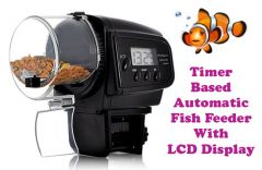 Gadget Hero's Timer Based Automatic Aquarium Fish Feeder LCD Display