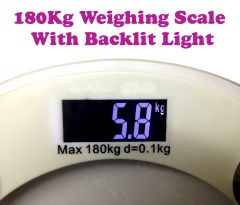 Gadget Hero's Digital Personal Weight Scale Bathroom Glass 180 Kg Light