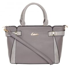 ESBEDA Ladies  Handbag Grey & Brown Color (D5227_1335)