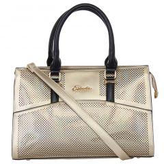 ESBEDA Ladies  Handbag Gold & Black Color (D5208_1345)
