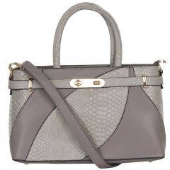 ESBEDA Ladies  Handbag Grey & Brown Color (D5229_1356)