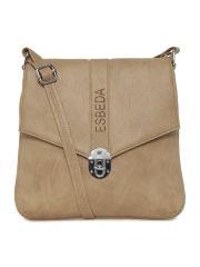 ESBEDA Beige Color Solid Women's Slingbag