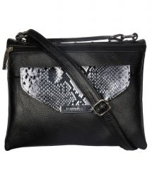 ESBEDA Black Color Graphic Print Women's Slingbag
