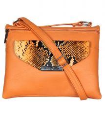ESBEDA Orange Color Graphic Print Women's Slingbag