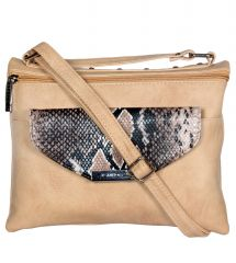 ESBEDA Beige Color Graphic Print Women's Slingbag