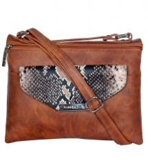 ESBEDA Brown Color Graphic Print Women's Slingbag