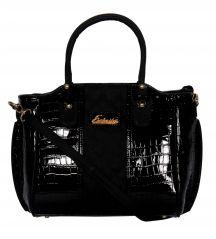 ESBEDA Black Color Solid Women's Handbag
