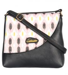 Esbeda Black Color Graphic Print Pu Synthetic Women's Slingbag