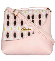 Esbeda Women's Clothing - Esbeda Light Pink color Graphic Print Pu Synthetic women's Slingbag