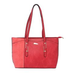 ESBEDA Red Color Pu Synthetic Handbag For Women's Red (Product Code - 1605)   Red