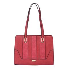 ESBEDA Red Color Pu Synthetic Handbag For Women's (Product Code - 1614)