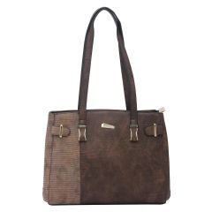 ESBEDA Brown Color Pu Synthetic Handbag For Women's Brown (Product Code - 1617)   Brown