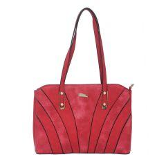 ESBEDA Red Color Pu Synthetic Handbag For Womens
