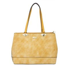 ESBEDA Yellow Color Pu Synthetic Handbag For Womens