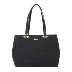 ESBEDA Black Color Pu Synthetic Handbag For Womens