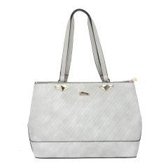 ESBEDA Light Grey Color Pu Synthetic Handbag For Womens