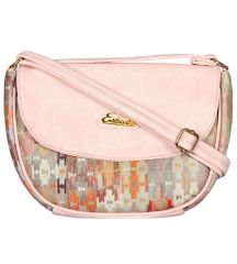 ESBEDA Pink Color Graphic Print Sling Bag For Womens_1658