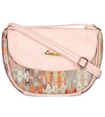 ESBEDA Pink Color Graphic Print Sling Bag For Womens_1658
