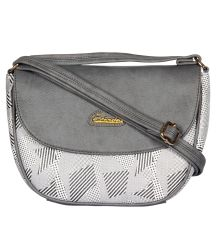 ESBEDA Light Grey Color Graphic Print Sling Bag For Womens_1659