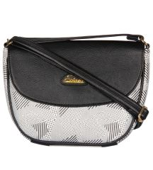 ESBEDA Black Color Graphic Print Sling Bag For Womens_1661