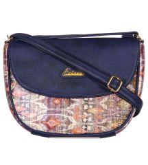 ESBEDA Dark Blue Color Graphic Print Sling Bag For Womens_1663