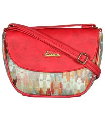 ESBEDA Red Color Graphic Print Sling Bag For Womens_1665